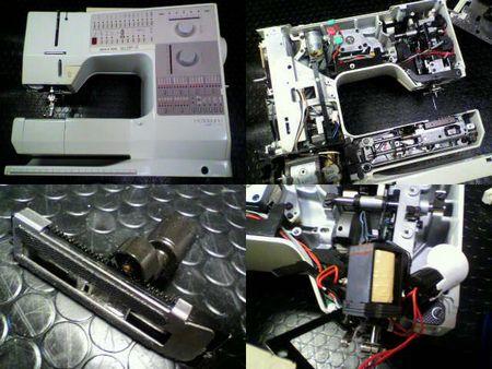 ベルニナ製ミシン修理|リッカー ホリデーヌ1240|修理詳細画像