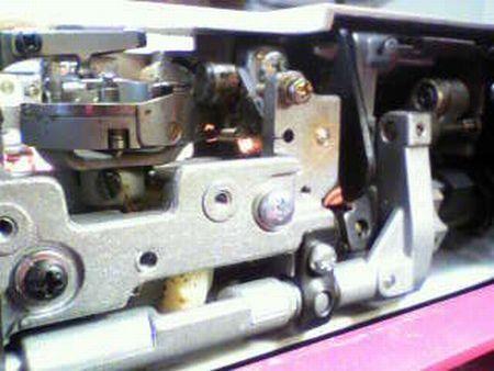 リッカーミシン修理|マイティB3|釜|送り歯