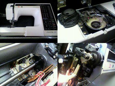 ジャノメミシン修理|Memory craft 6000|修理詳細画像