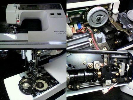 ジャノメミシン修理|センサークラフト7000|修理詳細画像