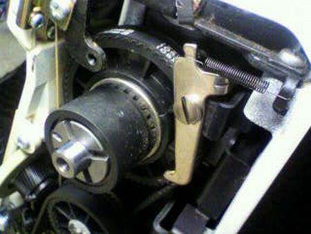 リッカーミシン修理|マイティb5|はずみ車|クラッチ
