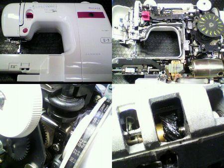 ジャノメミシン修理|Monaze E2000|修理詳細画像
