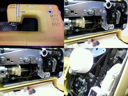 ジャノメミシン修理|KURAI-MUKI KM2010|修理詳細画像