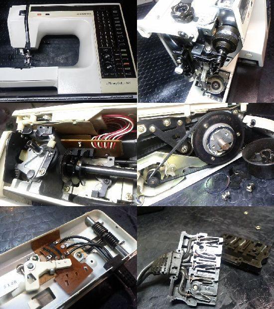 JANOMEメモリークラフト6000のミシン修理