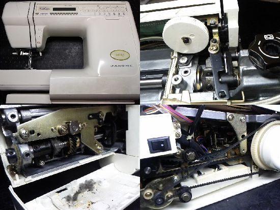 ジャノメ6650のミシン修理