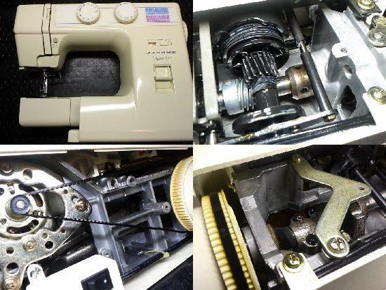 ジャノメTYPE450のミシン修理