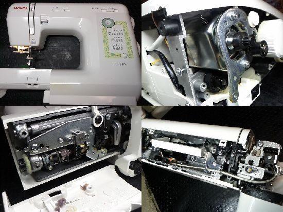 ジャノメJN-350のミシン修理