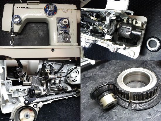 ジャノメトピア801のミシン修理