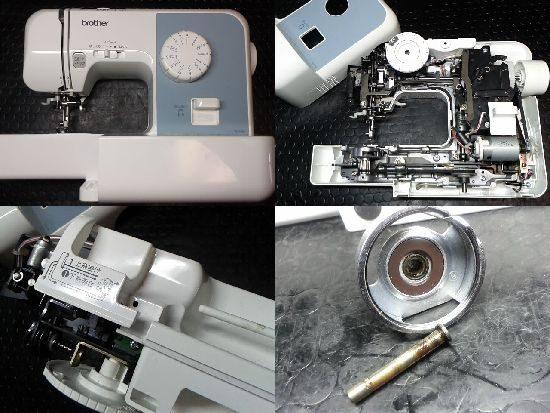 ブラザーEL117のミシン修理
