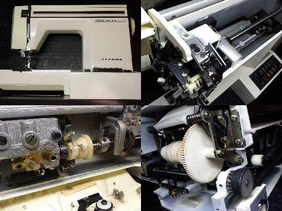 ジャノメエクセル625型のミシン修理