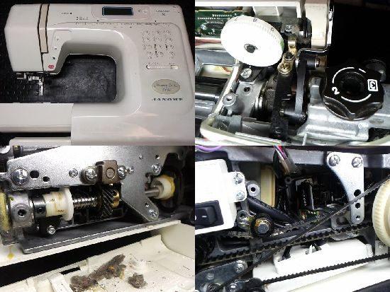 JANOMEミシンMemoryCraft5150の修理