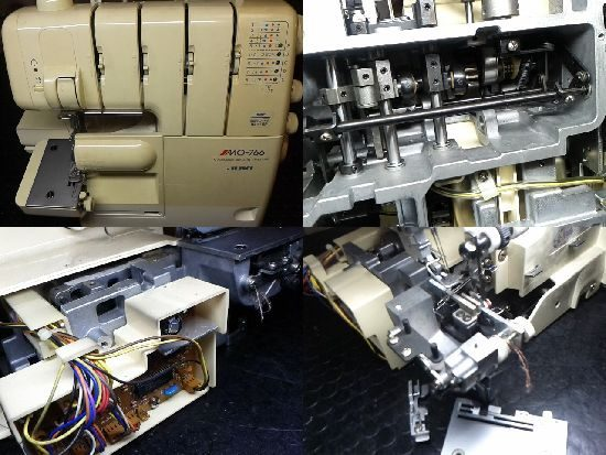 JUKIロックMO-766のミシン修理
