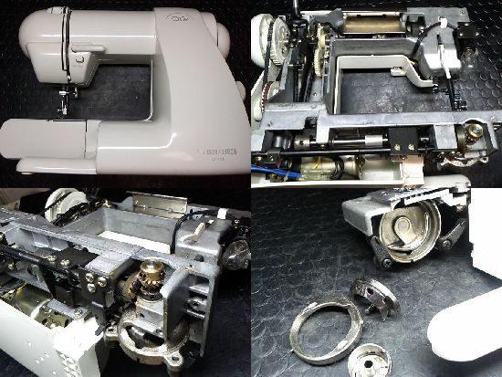 シンガーQt-7000のミシン修理