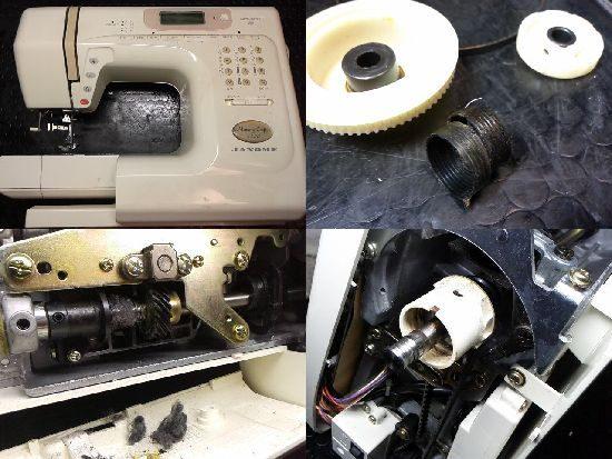 ジャノメメモリークラフト5400のミシン修理