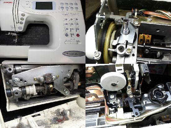 ジャノメメモリークラフト5555のミシン修理