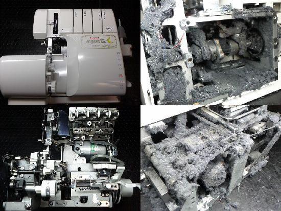ジューキベビーロック糸取物語BL65LVのミシン修理