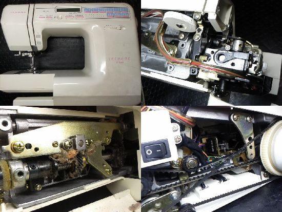 ジャノメLECHERE C420のミシン修理