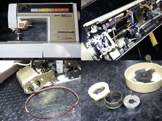 JUKIフローラ5500のミシン修理