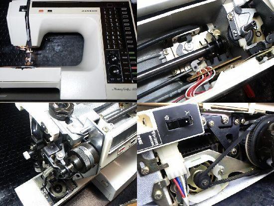 ジャノメメモリークラフト6000のミシン修理