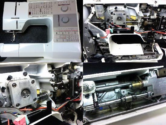 ベルニナ製リッカーホリデーヌ1240のミシン修理