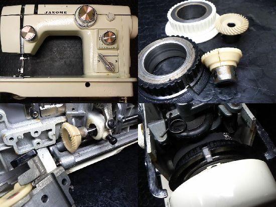 ジャノメトピアエース802のミシン修理