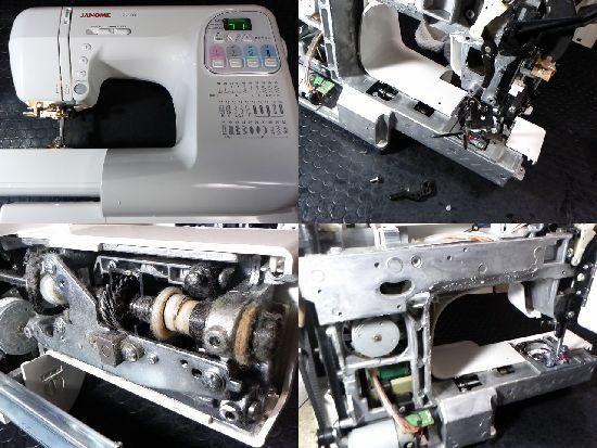 ジャノメJP500のミシン修理