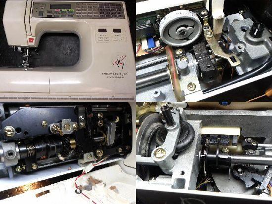 ジャノメセンサークラフト7100のミシン修理