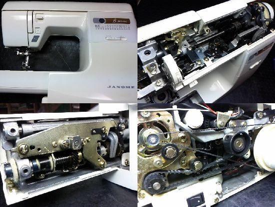 ジャノメ655のミシン修理