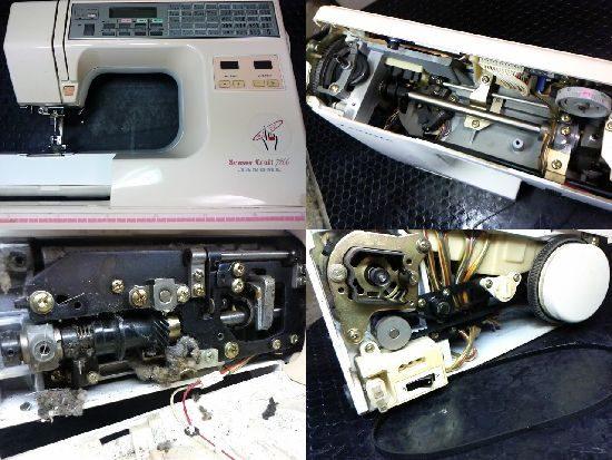 ジャノメセンサークラフト7200のミシン修理