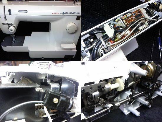シンガーPLUMEUXのミシン修理