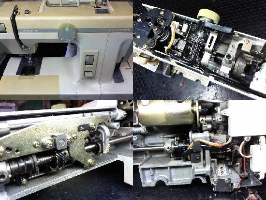 ジャノメコンビデラックス2000のミシン修理
