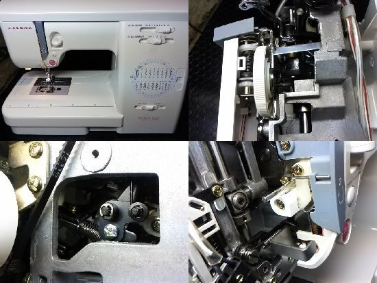 ジャノメエクール940のミシン修理