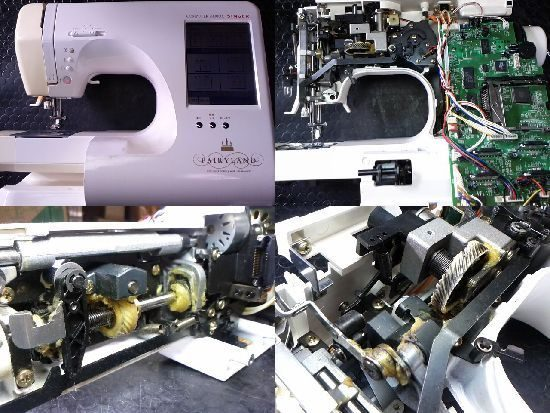 シンガーフェアリーランド9800DXのミシン修理