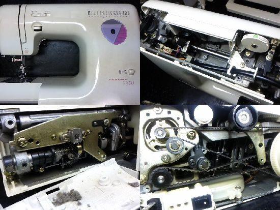 ジャノメ5350のミシン修理