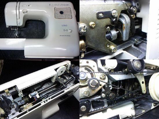 ジャノメ5380のミシン修理