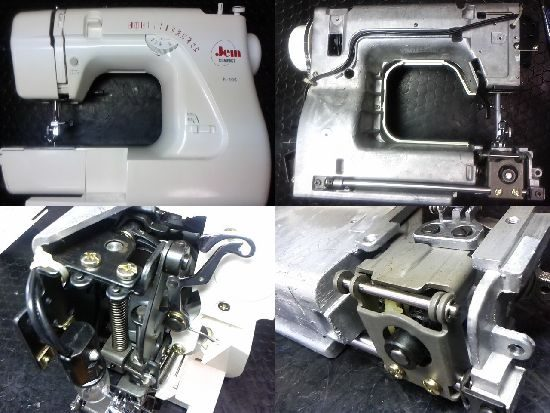 ジャノメN-105のミシン修理
