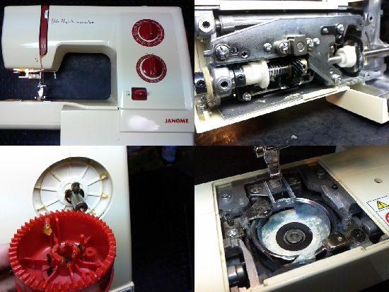 ジャノメYN507のミシン修理