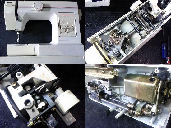 ジャノメ250のミシン修理