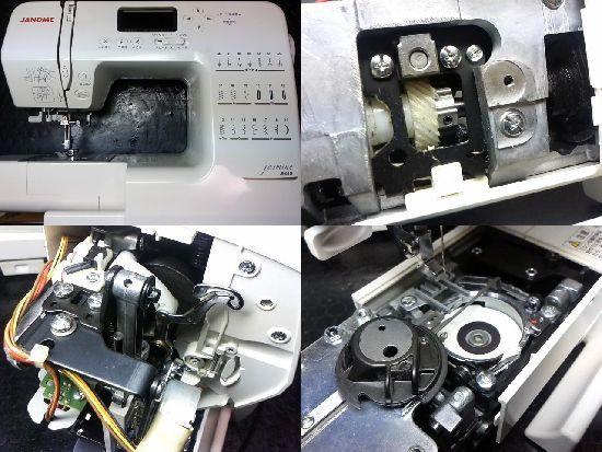 ジャノメ808型のミシン修理