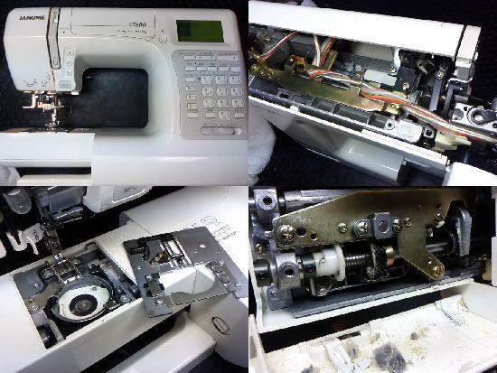 ジャノメS7800のミシン修理