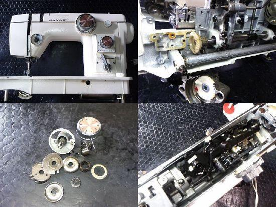 ジャノメトピア802のミシン修理