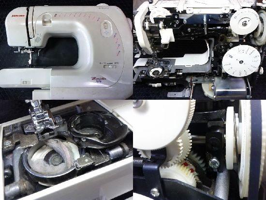 ジャノメマリエッタ7070のミシン修理
