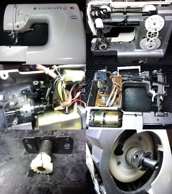 JUKI HZL-71のミシン修理
