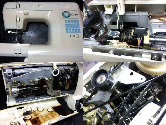ジャノメ5740(751型)のミシン修理