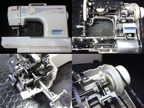 ジャノメJN508DXのミシン修理