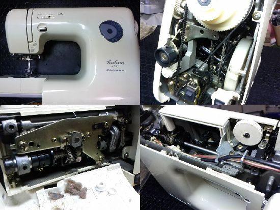 ジャノメルティーナ4500のミシン修理