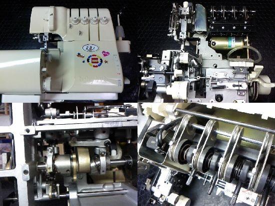 ジューキベビーロック衣縫人のミシン修理