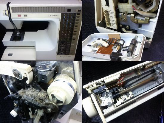 メモリークラフト6500のミシン修理