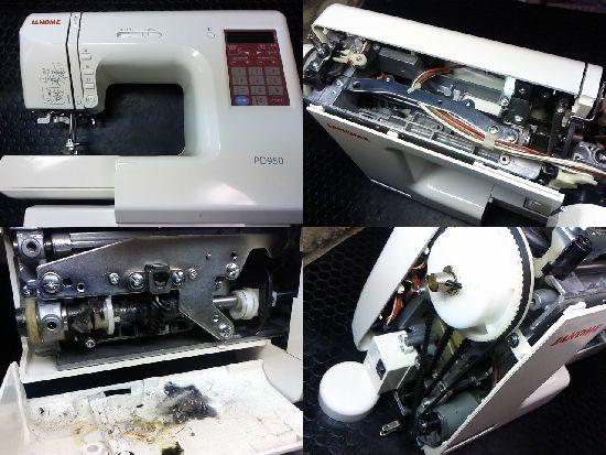 ジャノメPD950のミシン修理