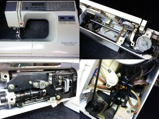 ジャノメセンサークラフト7300のミシン修理
